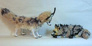 Art Dolls: African Wild Dogs by AmethystCreatures