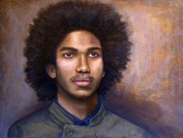 Portrait in oil by ChristinaPrice