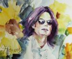 Michael Jackson Brightness in the sunflowers field by HitomiOsanai