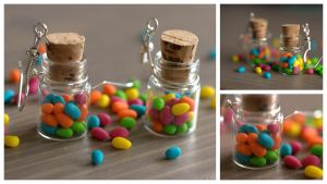 Easter eggs in a bottle earrings by Sandien