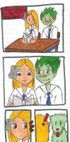 Titans High: In the study hall by Animekiky