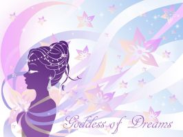 Goddess of Dreams Laptop Cover by silver-eyes-blue