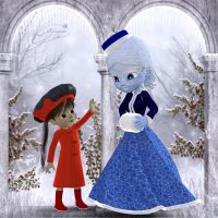 Aemelia-jae and the winter queen for tiggerspring by mininessie66
