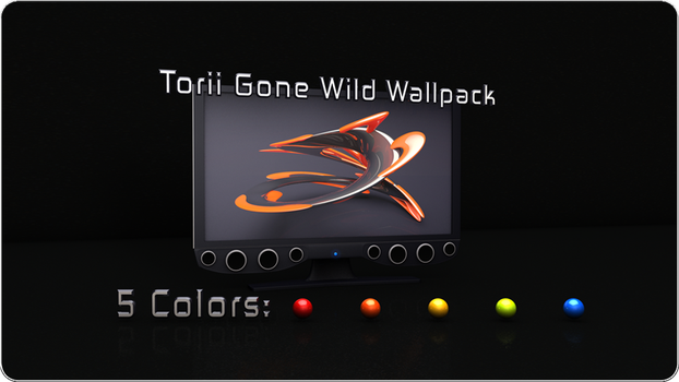 Torii Gone Wild Wallpack by fission1