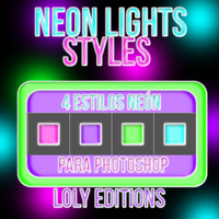 Neon Lights - Styles Para photoshop by Lolyeditiones