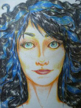blue and black hair by InvisibleGravity