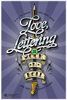 Love, lettering and Rockanroll! by AtixVector