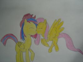 D-pad x Fluttershy by Ptor987