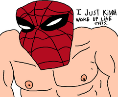 Funny Shirtless Spider-Man by Agent-Jin
