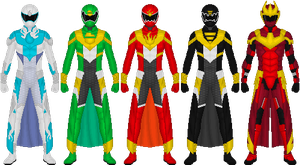 Requested: Element Sentai Smashranger by Taiko554
