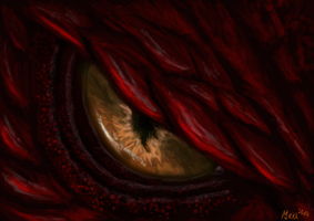 Red Dragon Eye by MenoaTheWise