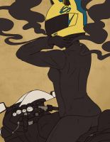 Celty Pinup by elefluff