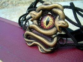 Gothic Steampunk - Medusa's Sight Choker 1 by LadyPirotessa