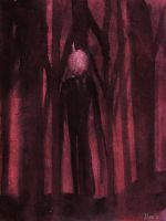 Watercolor: Slenderman by scanoli