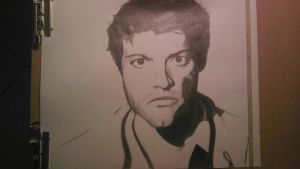 Misha Collins as Castiel by amporastuck