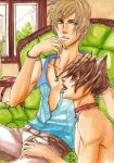 Master Cat and his Boy by Ameyama