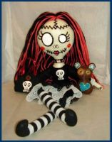 Gothic Dead Spooky Rag Doll by jazzy1453