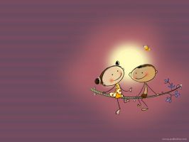 kuttu and chinnu 02 by anoop-pc