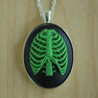 Zombie Ribcage Necklace by MonsterBrandCrafts