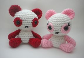Panda Bears Amigurumi by StitchedLoveCrochet
