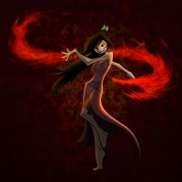 Commission - Fire Avatar by Amirai