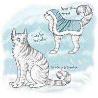 Waterbending cat design by quardiian