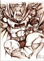 Frank Miller's Batman and Robin by MisterHydesSon