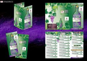 Ricany wine delivery menu by R1Design