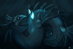 Request/Gift: Fishy Dragon by RosiArts