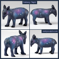 Galaxy Tapir by emilySculpts