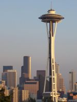 Space Needle Sunset by Bspacewiz2