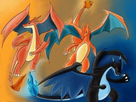 Mega Charizard X and Y by ShiningAster