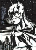 Comissioned Batman sketchcard by MarcFerreira