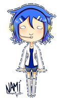 UTAU Nami Chibi Commission by JustCallMeFade