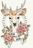 Dear Deer tattoo design by ziuuziuu