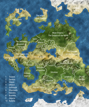 Political Map of Alogia (No. 2) by TheVISMO