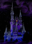 Purple Castle under Planets BG by WDWParksGal-Stock