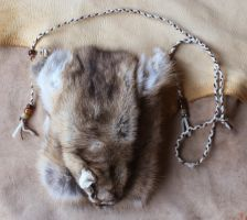 Vintage ringtail cat hide pouch by lupagreenwolf