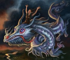 Luck Dragon for Talisman by feliciacano