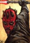 Darth Maul sketch card by gattadonna