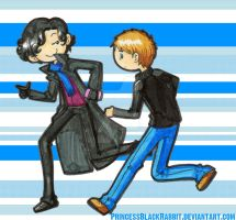 Sherlock and John by PrincessBlackRabbit