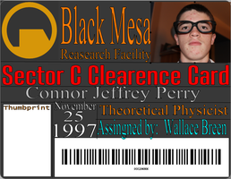 Custom Black Mesa sector C ID Card by Theory-Of-Existence