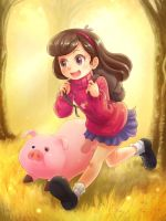 Mabel and Waddles Commission by NinjaHam