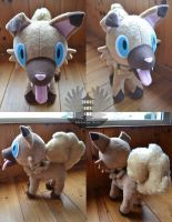 Iwanko/Rockruff Plush Pokemon by ArtesaniasIris