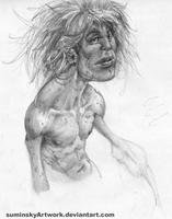 dude with tina turner hair sketch by SuminskyArtwork