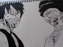 Luffy and Zoro by AirtonCS