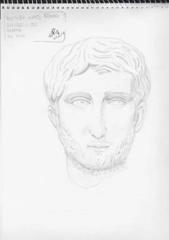 Head of a Roman man by SpeedpaintingWithSia