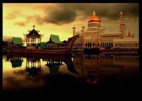 sunset in Brunei 1 by reksakawula