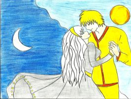 The sun and moon-the forbidden lovers by Ninih
