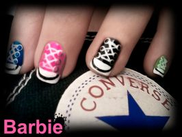 All Star Nails by BarbieNailArt